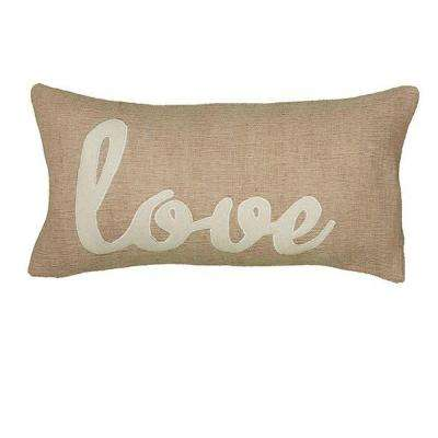 21 in. W Love Decorative Pillow