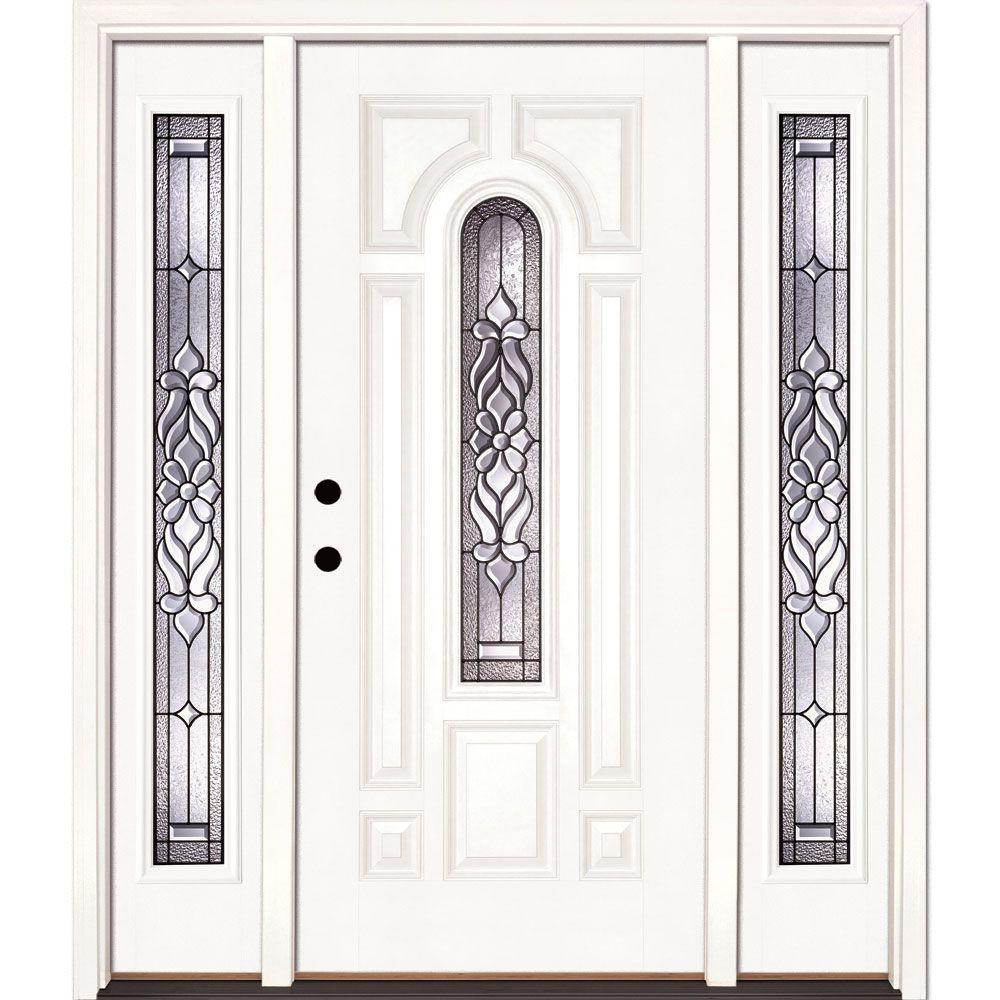 63.5 in.x81.625in.Lakewood Patina Center Arch Lt Unfinished Smooth Right-Hand