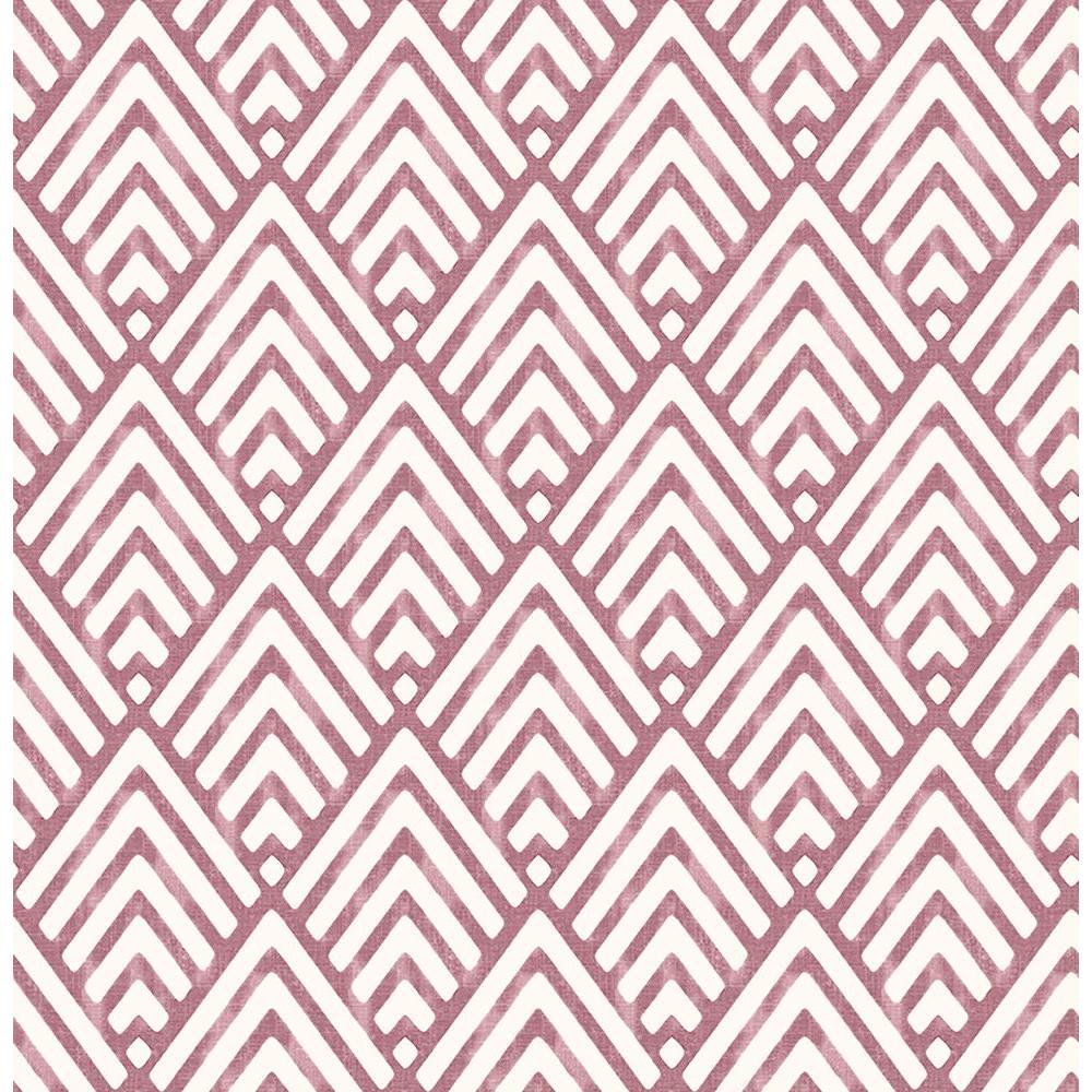 Vertex Burgundy Diamond Geometric Wallpaper