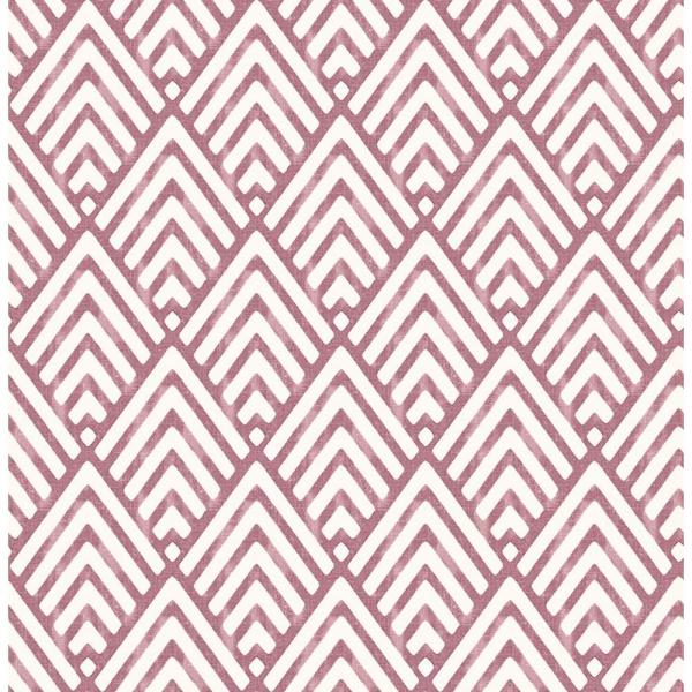 A-Street Vertex Burgundy Diamond Geometric Wallpaper