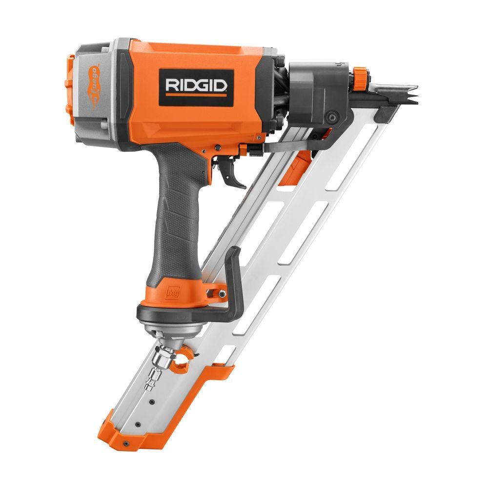 Ridgid reconditioned 30 degree 3 1 2 in clipped head framing nailer zrr350che the home depot - Brasseur d air electro depot ...