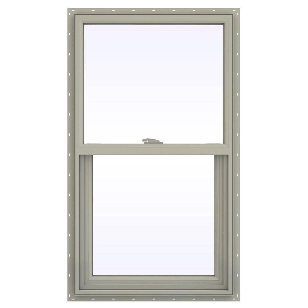23.5 in. x 47.5 in. V-2500 Series Single Hung Vinyl Window
