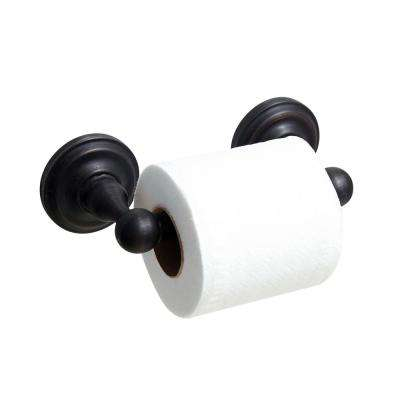 VIOLA Toilet Paper Holder with Stainless Steel Roller in Rubbed Bronze