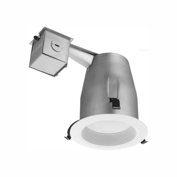 4 in. Matte White Recessed Baffle Integrated LED Lighting Kit