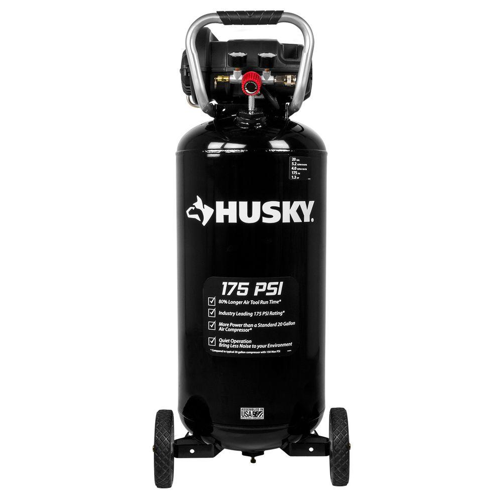 Husky 20 Gal. 175 PSI Portable Air Compressor