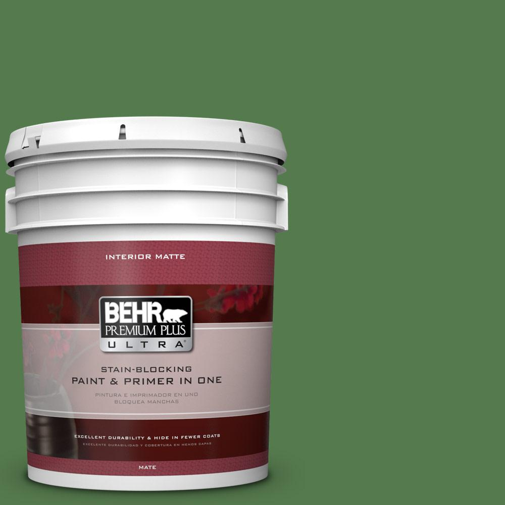 Behr premium plus ultra 5 gal 450d 7 torrey pine matte interior paint and primer in one 175305 for Best interior paint and primer in one