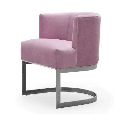 Eva Blush Velvet Chair