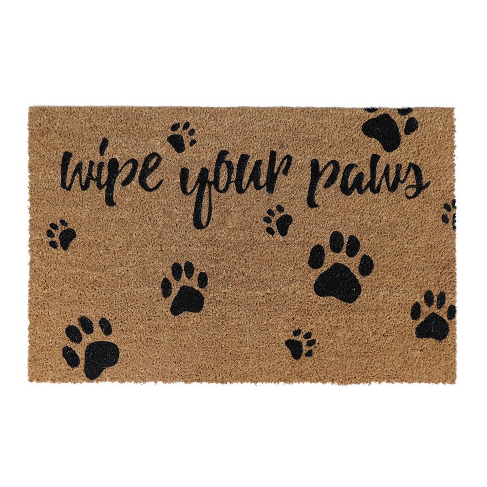 Trafficmaster Wipe Your Paws Black 24 In X 36 In Coir Door Mat Kera 6418 52 The Home Depot