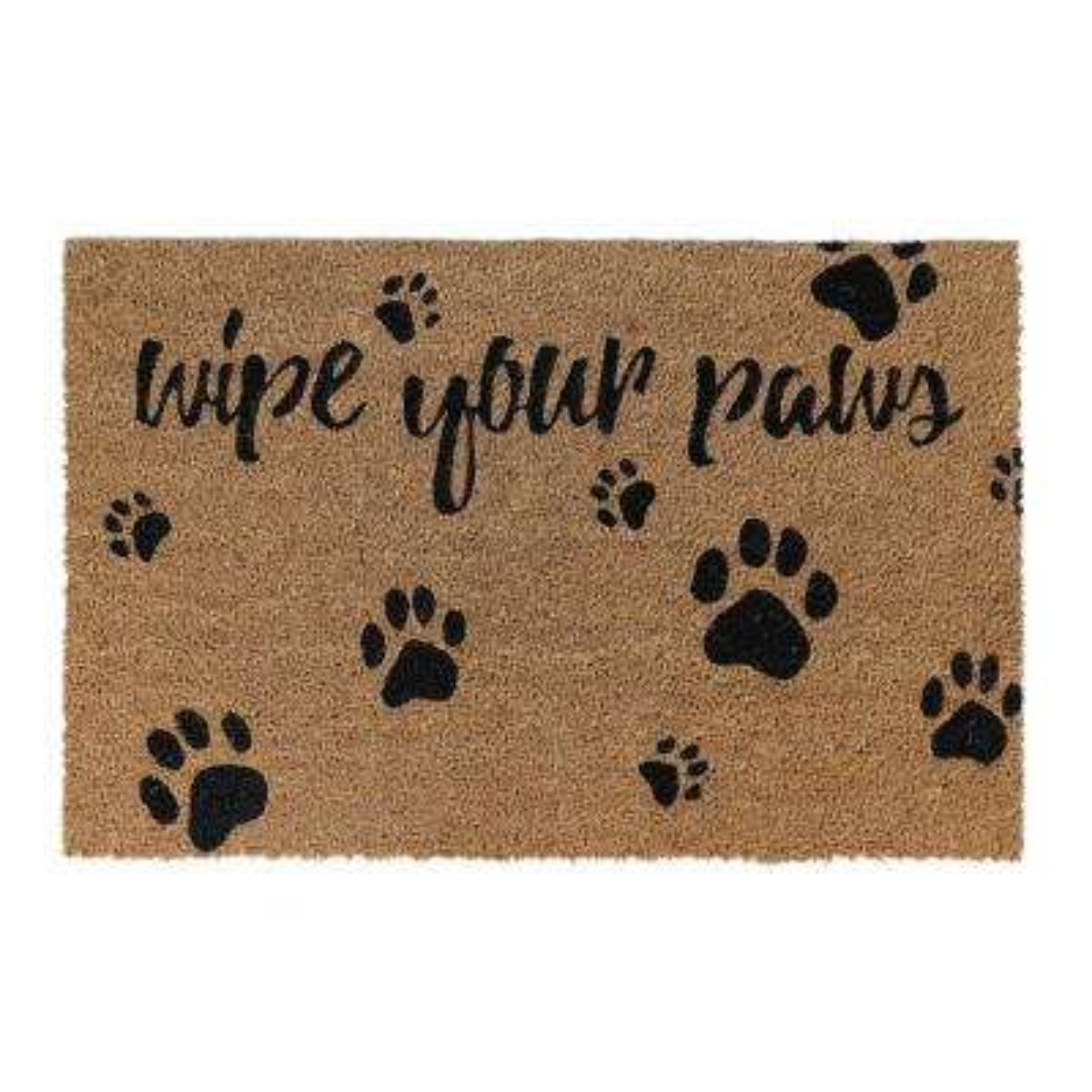 Wipe Your Paws Black 24 in. x 36 in. Coir Door Mat