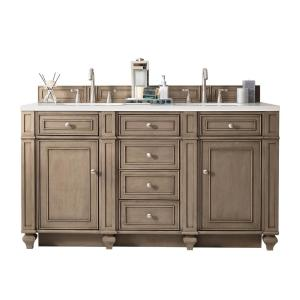 James Martin Signature Vanities Bristol 60 inch W Double Vanity in Whitewashed Walnut with Solid Surface Vanity Top in... by James Martin Signature Vanities