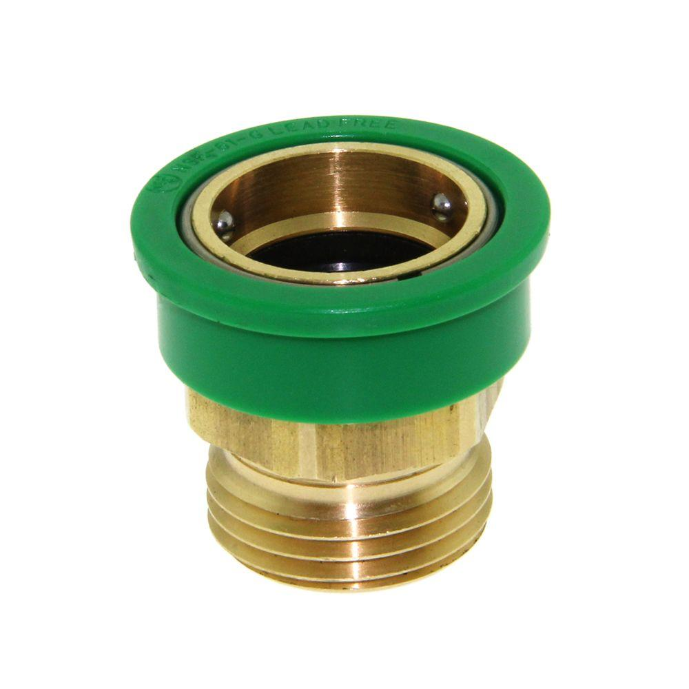 NEOPERL 3/4 in. Solid Brass Large Snap Coupler-97260.05 - The Home Depot