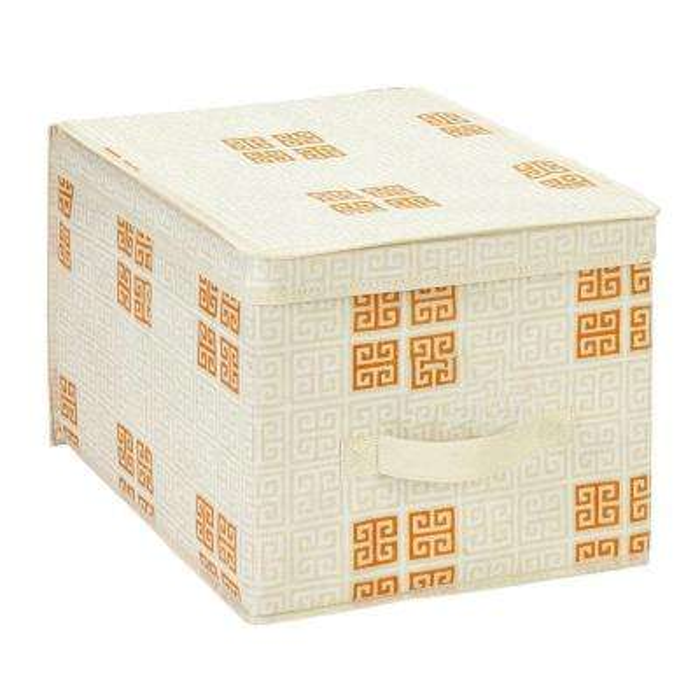 Large Polypropylene Storage Box in Cameo Key Cream