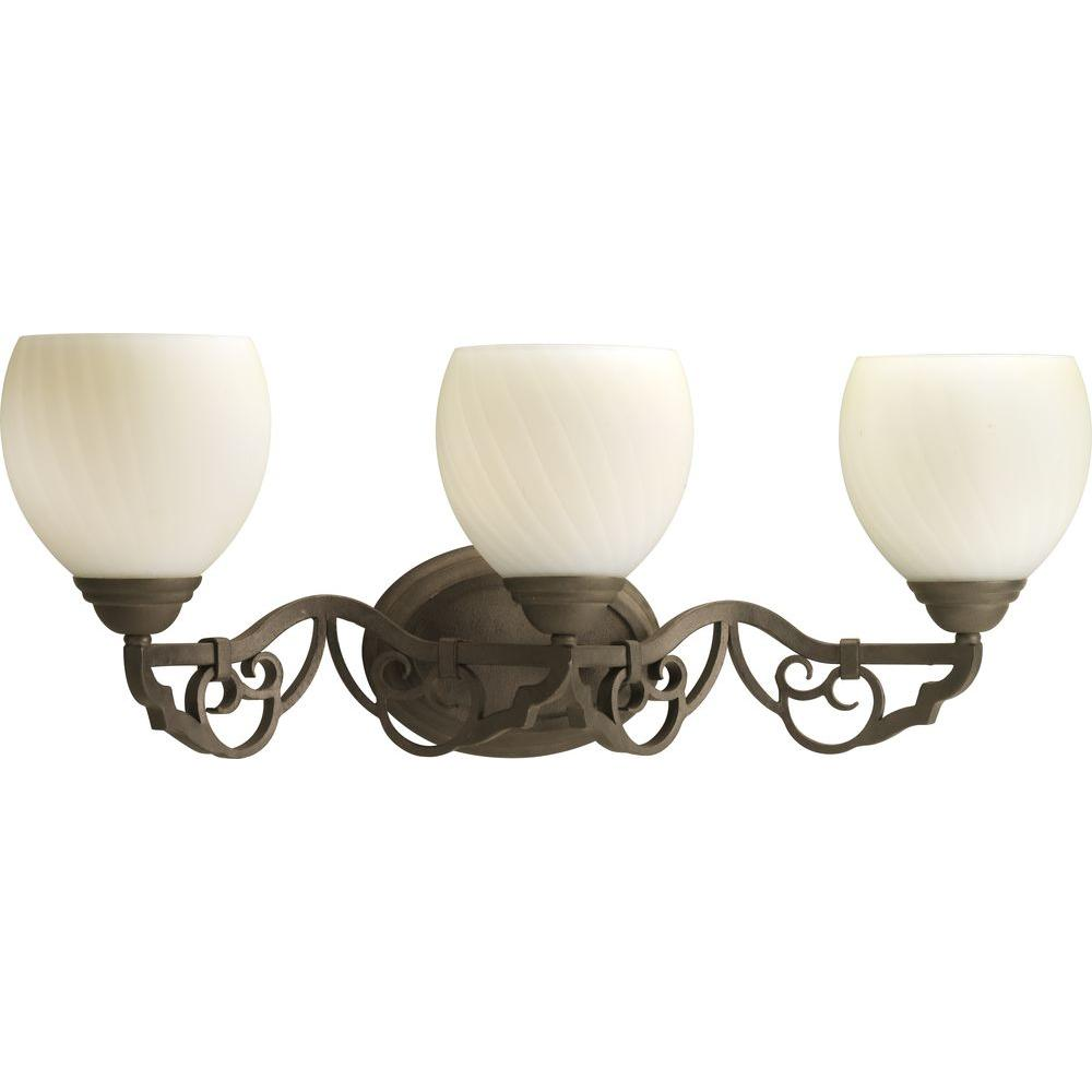 Thomasville Lighting Meeting Street Collection Roasted Java 3-light Vanity Fixture-DISCONTINUED