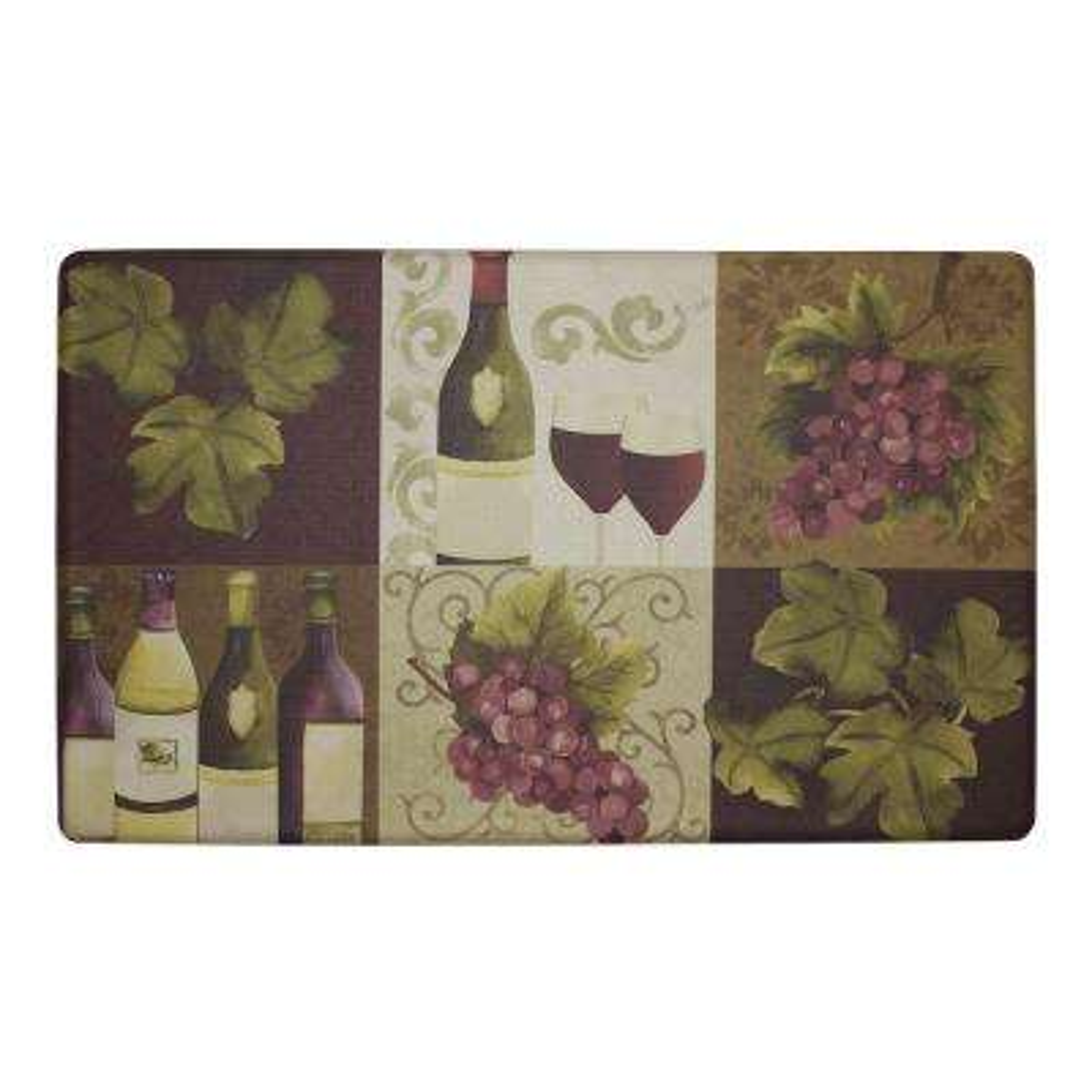Wellness Wine 18 in. x 30 in. Foam Comfort Kitchen Mat
