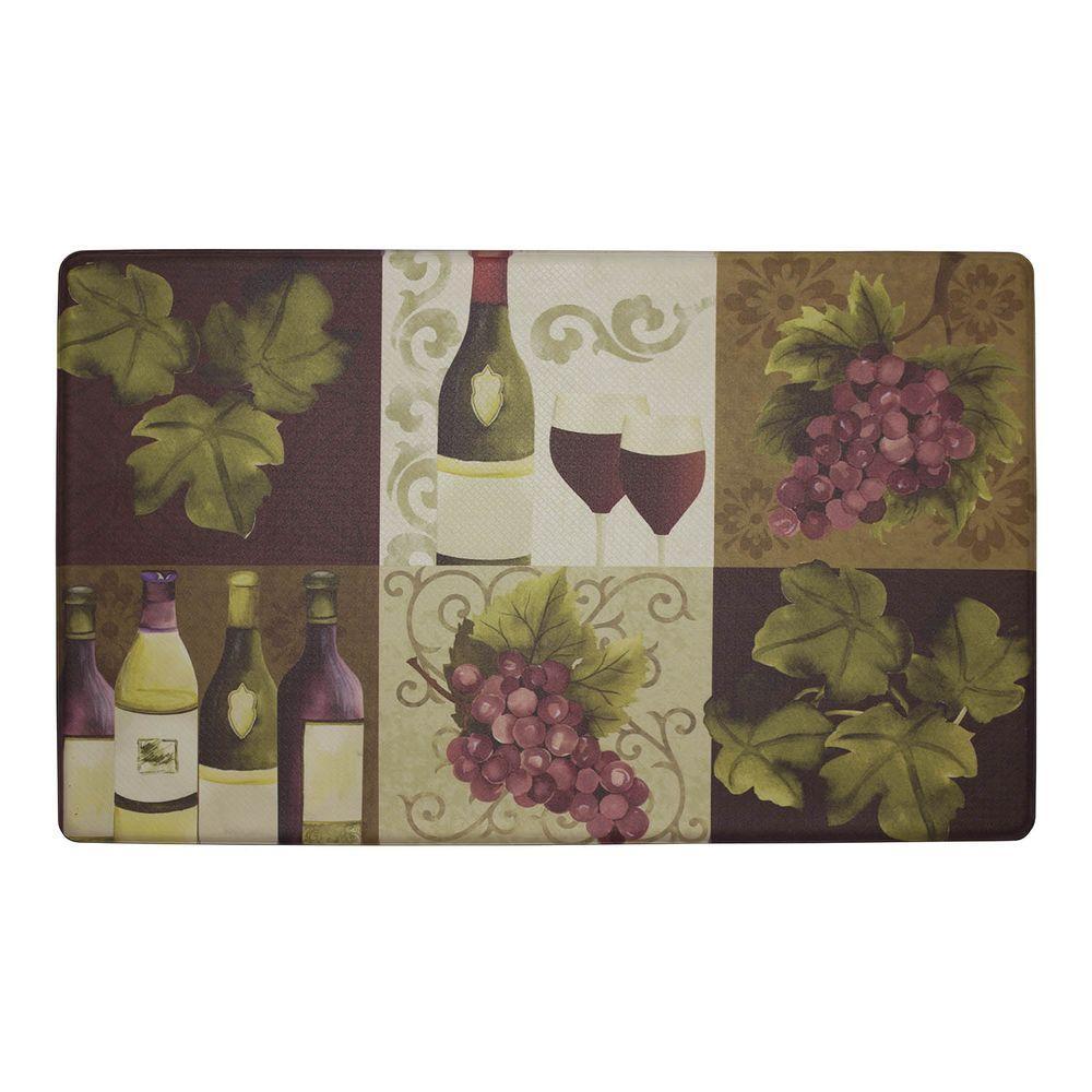 Wellness Wine 18 in. x 30 in. Anti-Fatigue Gelness Kitchen Mat