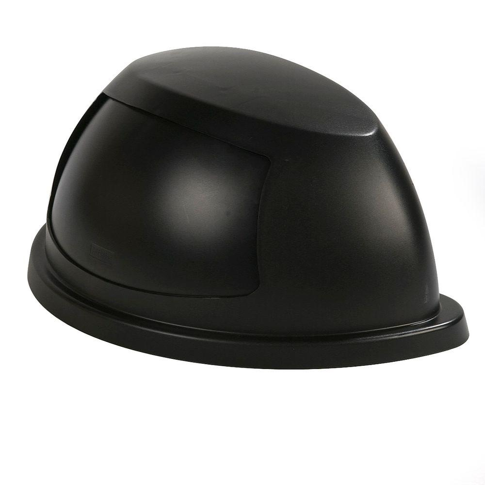 Centurian 21 Gal. Black Half Round Trash Can Dome Top Lid