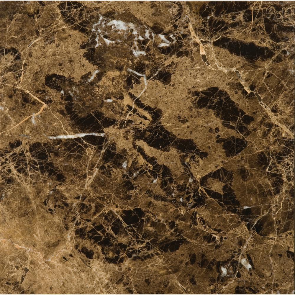 Emser Marble Marrone Emperador Dark Polished 12 01 In X