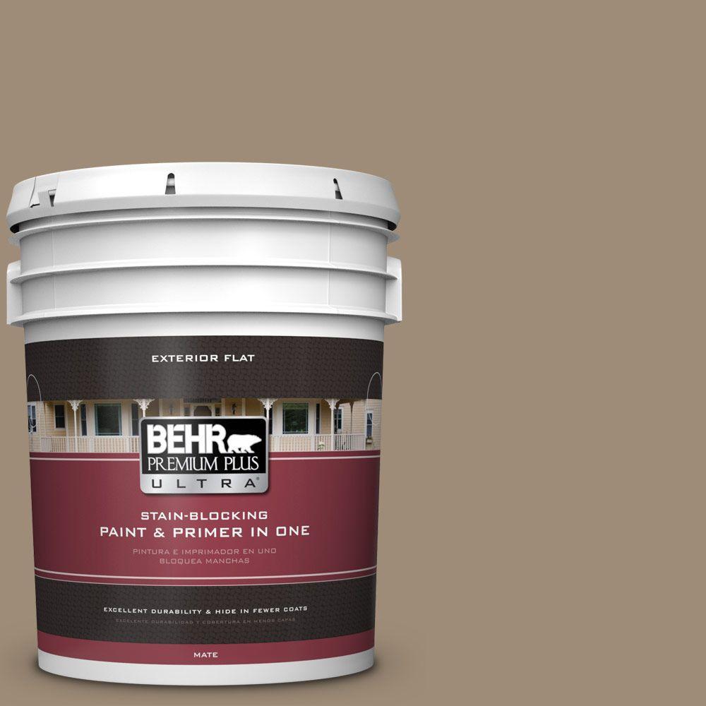 BEHR Premium Plus Ultra 5-gal. #ECC-17-1 Cottage Walk Flat Exterior Paint