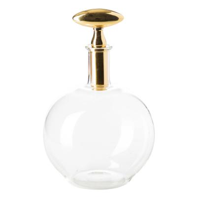 Small Chalet Decanter with Brass Top