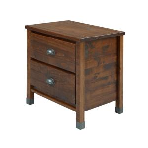 Baja 2-Drawer Walnut Nightstand