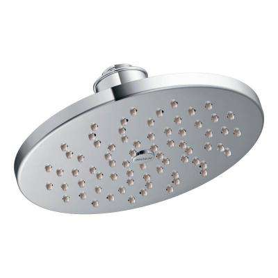 1-Spray 8 in. Rainshower Showerhead Featuring Immersion in Chrome