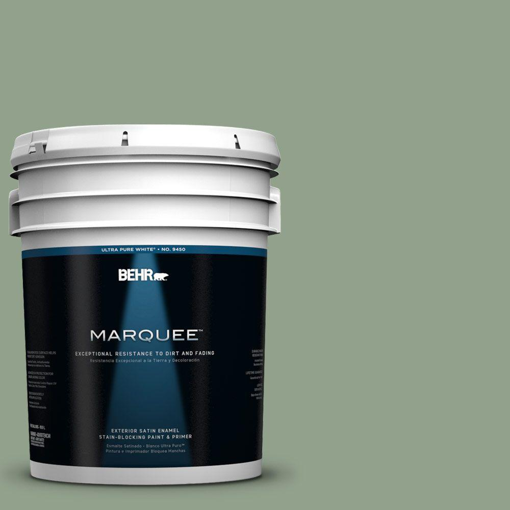 BEHR MARQUEE 5-gal. #440F-4 Athenian Green Satin Enamel Exterior Paint