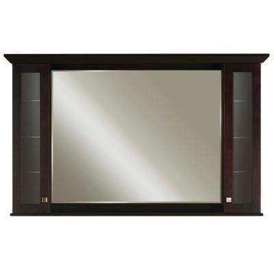 Manhattan 64 in. x 36 in. x 6 in. Surface Mount Medicine Cabinet in Espresso