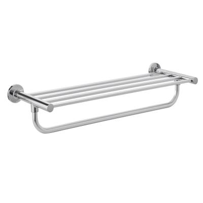 Modern 21 in. Wall Mount Towel Rack with Towel Bar in Chrome