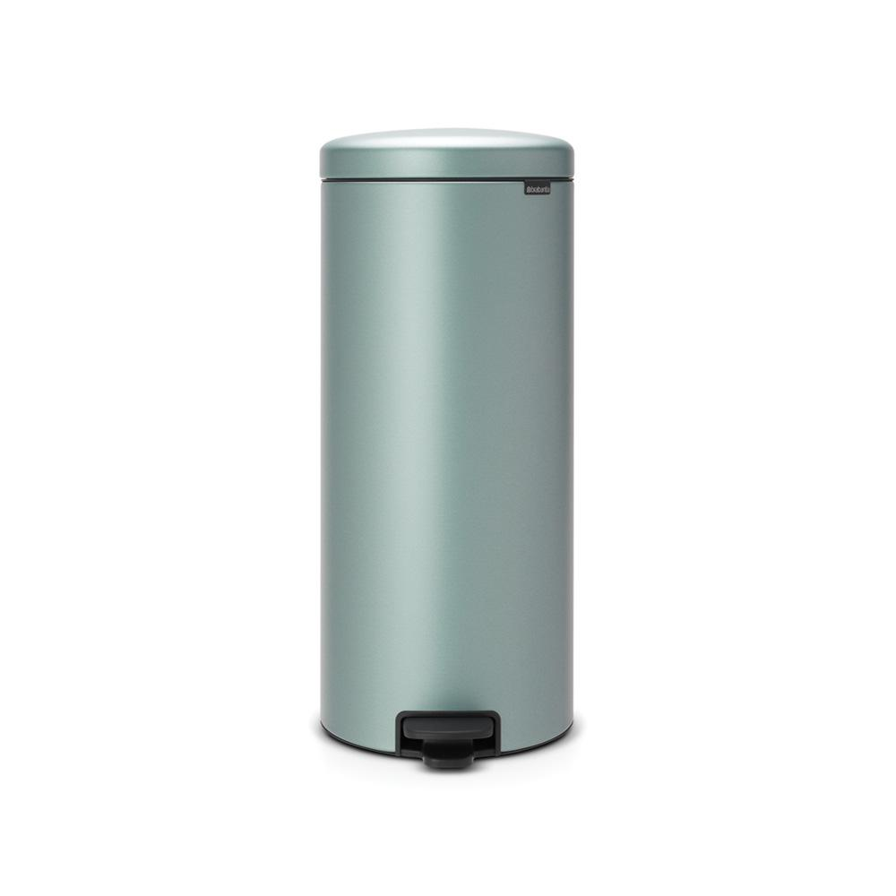 8 Gal. Metallic Mint Steel Step-On Trash Can