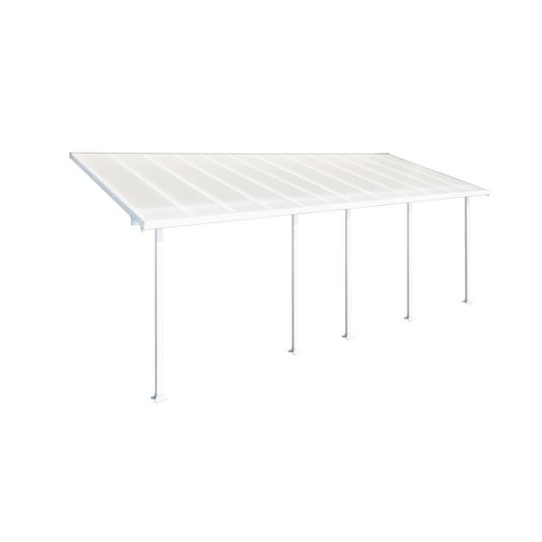 Feria 10 ft. x 24 ft. White Patio Cover Awning