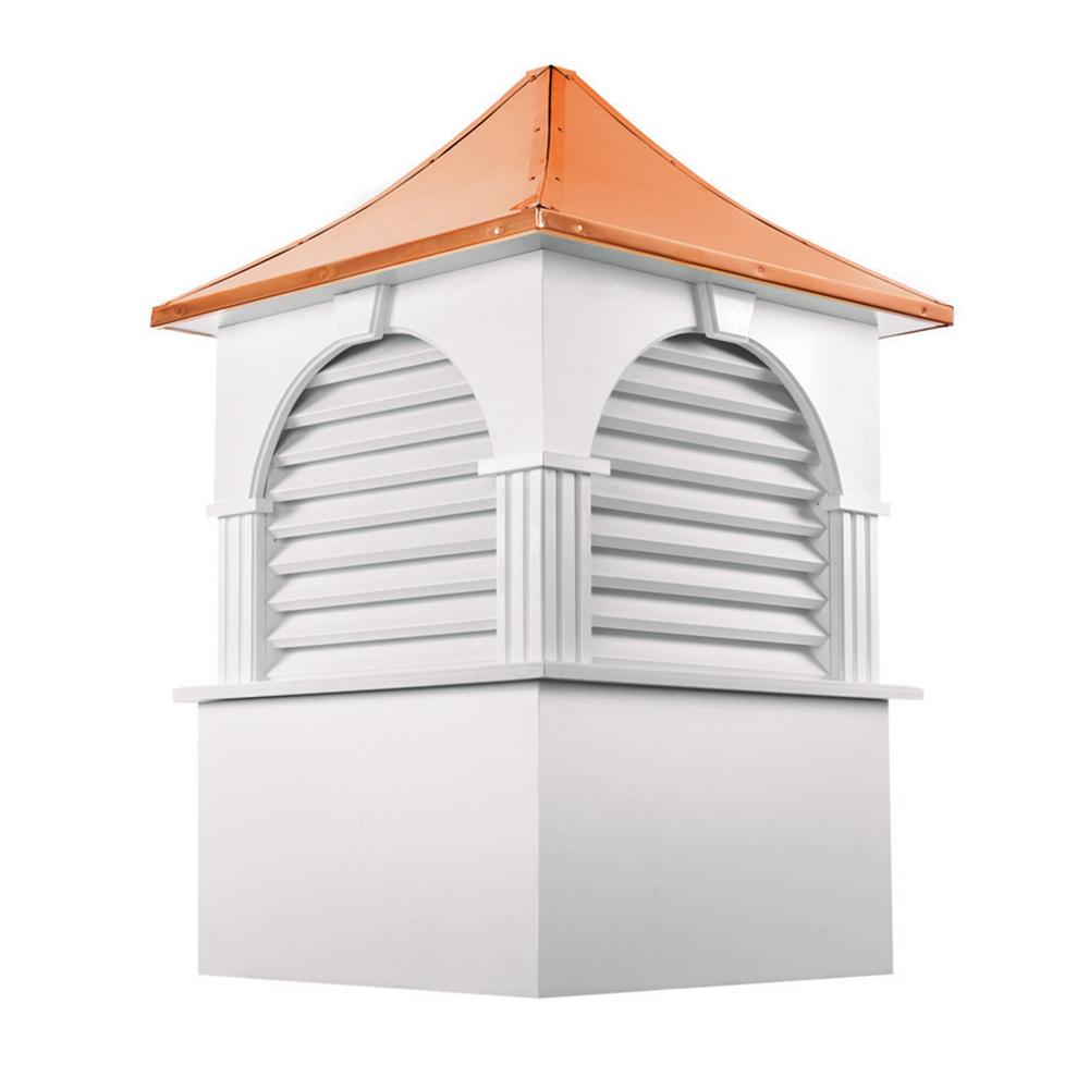 Farmington 42 in. x 63 in. Vinyl Cupola with Copper Roof