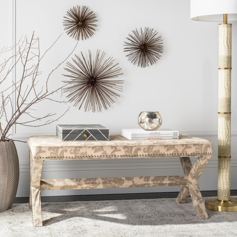 Safavieh melanie taupe and beige bench mcr4617d the home depot - Beige slaapkamer taupe ...