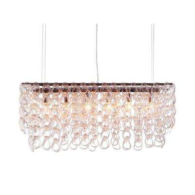 Jet Stream 6-Light Clear Ceiling Lamp