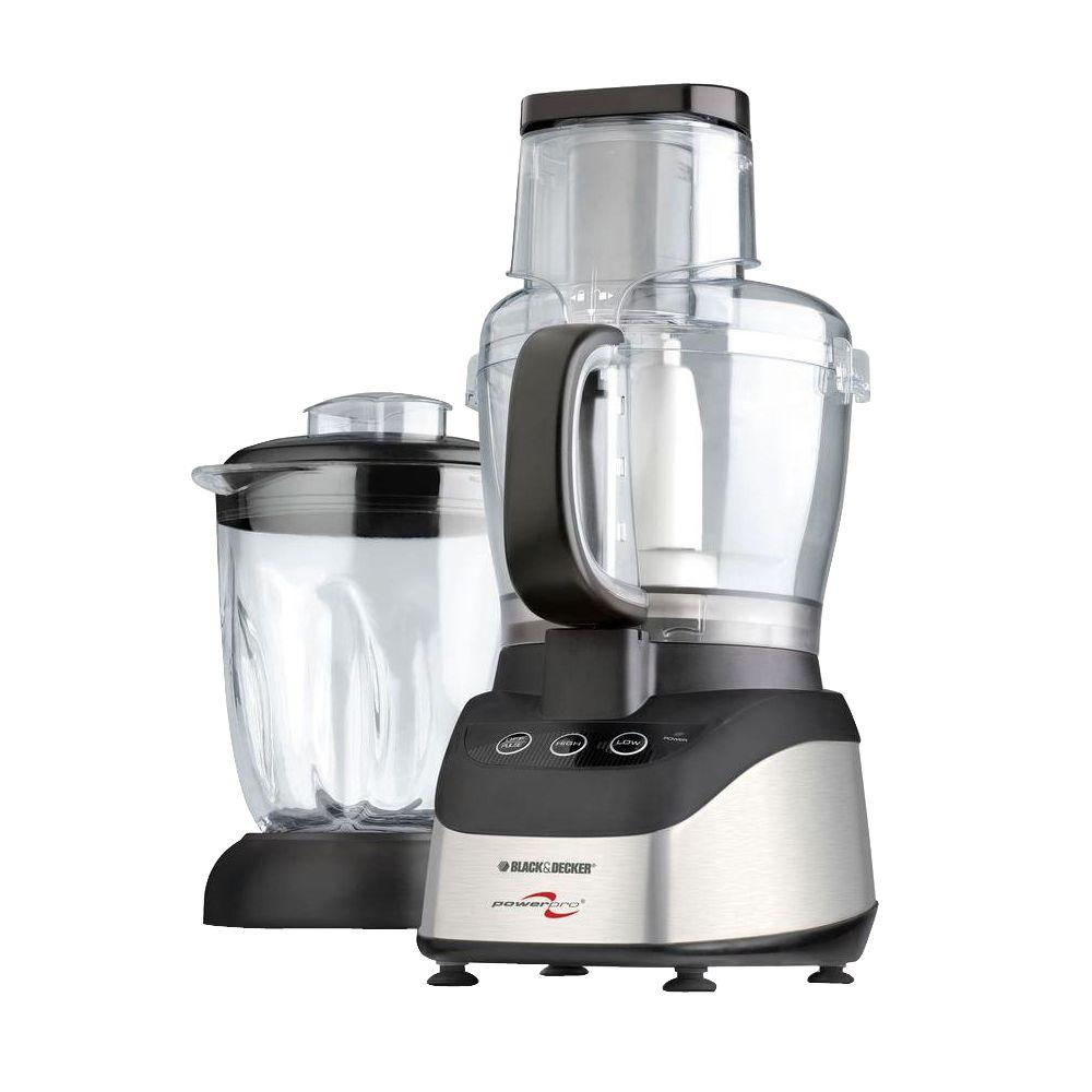 black decker power pro food processor blender fp2620s the home depot. Black Bedroom Furniture Sets. Home Design Ideas