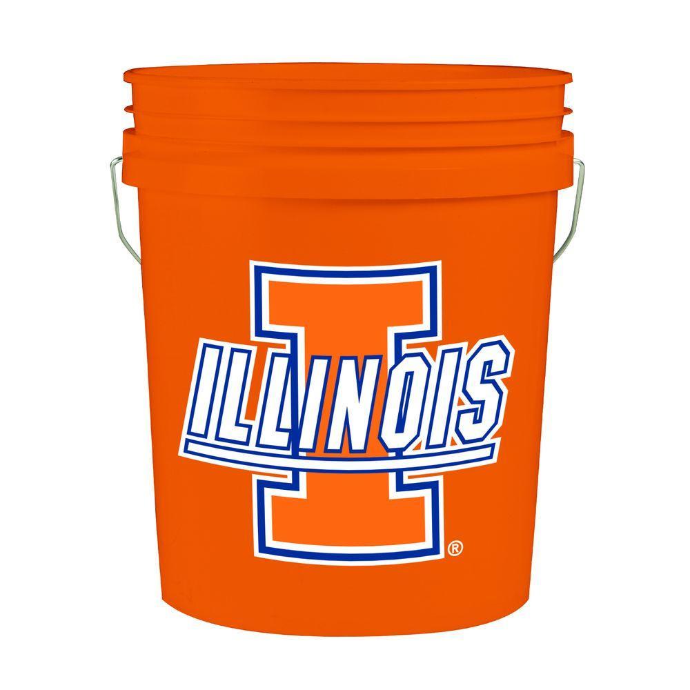 Illinois 5-Gal. College Bucket