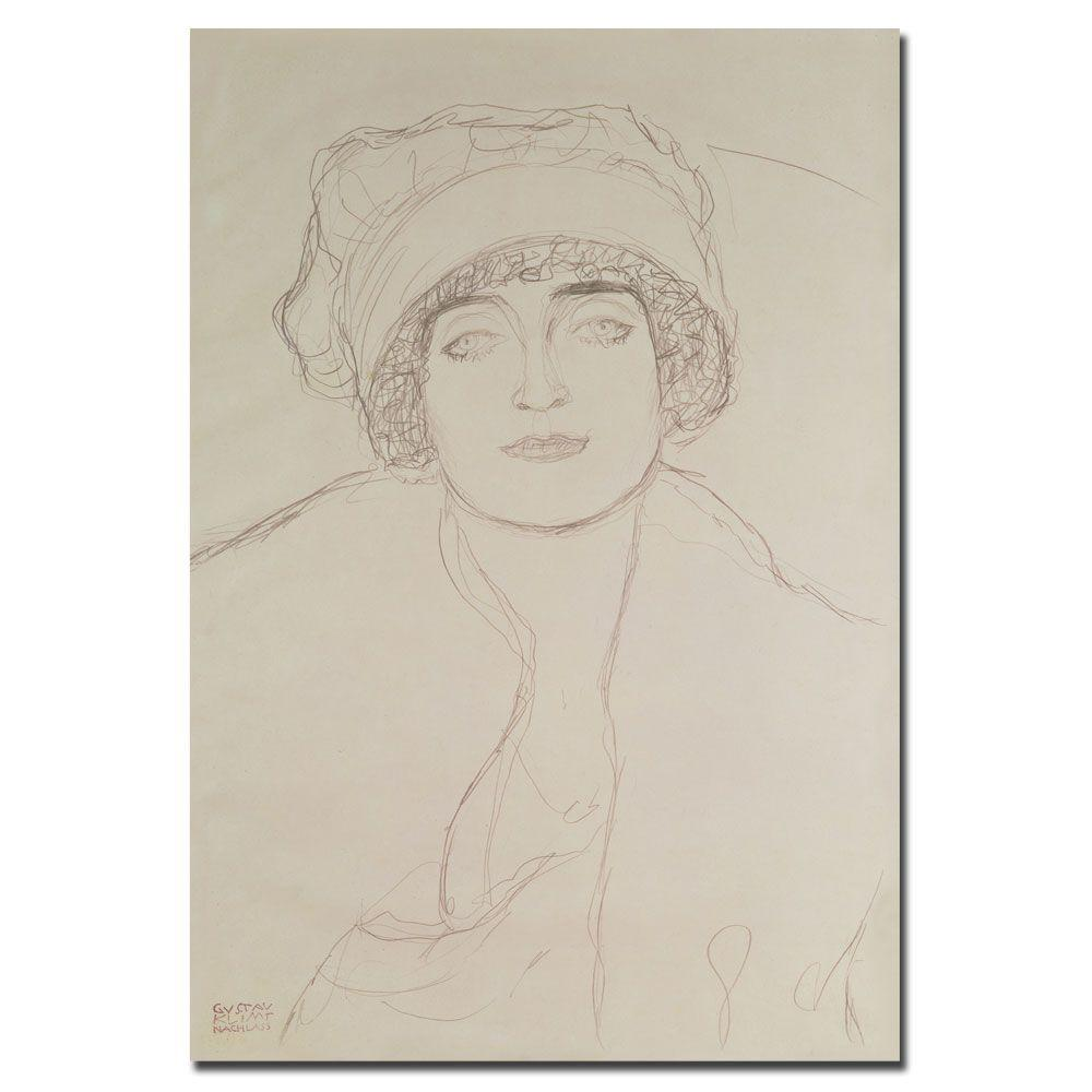 Trademark Fine Art 22 in. x 32 in. Portrait of a Young Woman Canvas Art