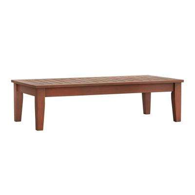 Verdon Gorge Brown Rectangular Wood Outdoor Coffee Table