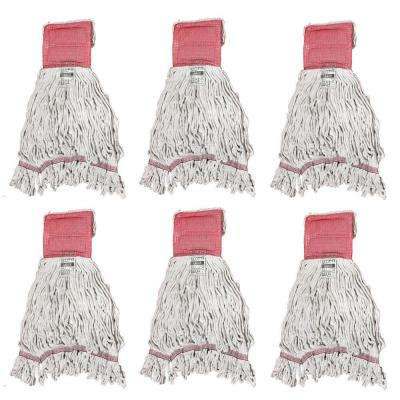Large 4-Ply Looped End Cotton Mop with 5 in. Band (6-Pack)