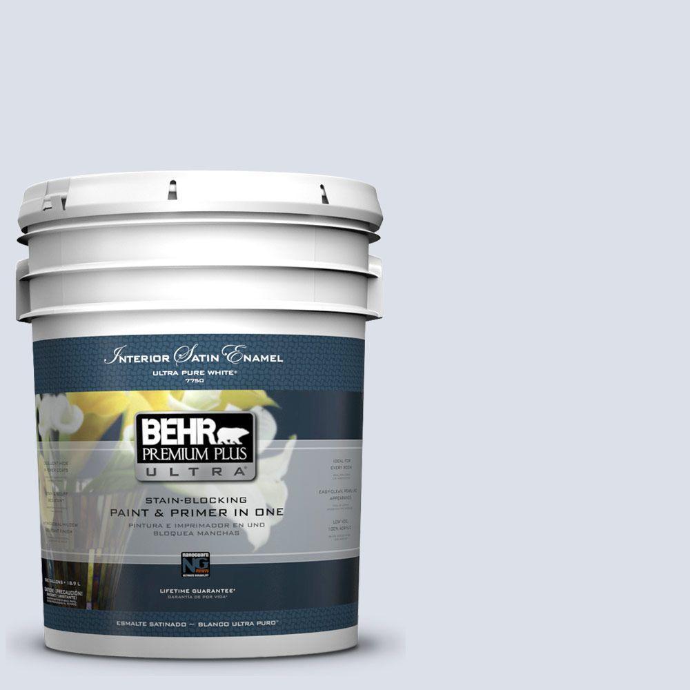 BEHR Premium Plus Ultra 5-gal. #PPL-70 Eastern Breeze Satin Enamel Interior Paint