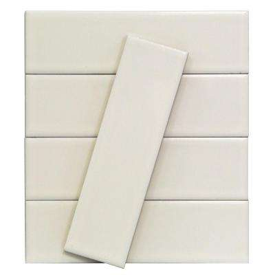 Vintage White 3 in. x 9 in. x 10 mm Ceramic Wall Mosaic Tile (5 Tiles Per Unit)