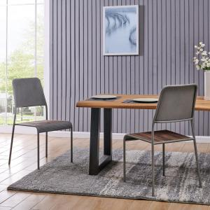 Admirable Firstime Co 38 5 In Riley Modern Rustic Chair Set Of 2 Ncnpc Chair Design For Home Ncnpcorg