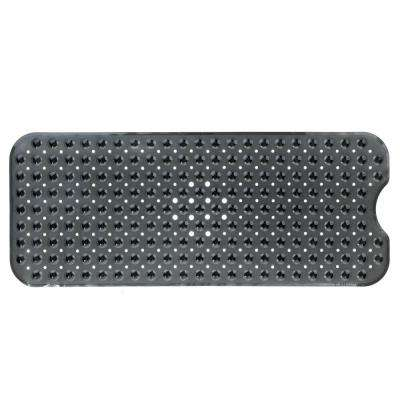 16 in. x 39 in. Extra Long Bath Mat in Translucent Black