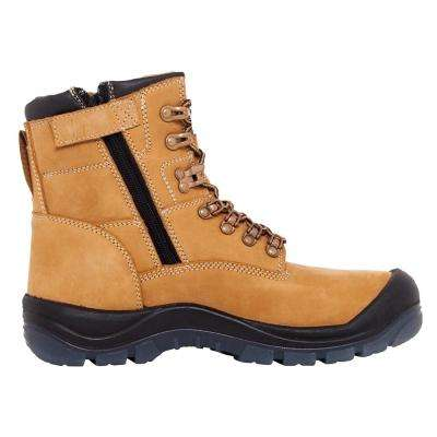 Mack Boots Blast Men 7 in. Size 9.5 Honey Leather Steel-Toe Work Boot