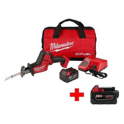 M18 FUEL 18-Volt Lithium-Ion Brushless Cordless Hackzall Reciprocating Saw Kit with Free M18 5.0Ah Battery