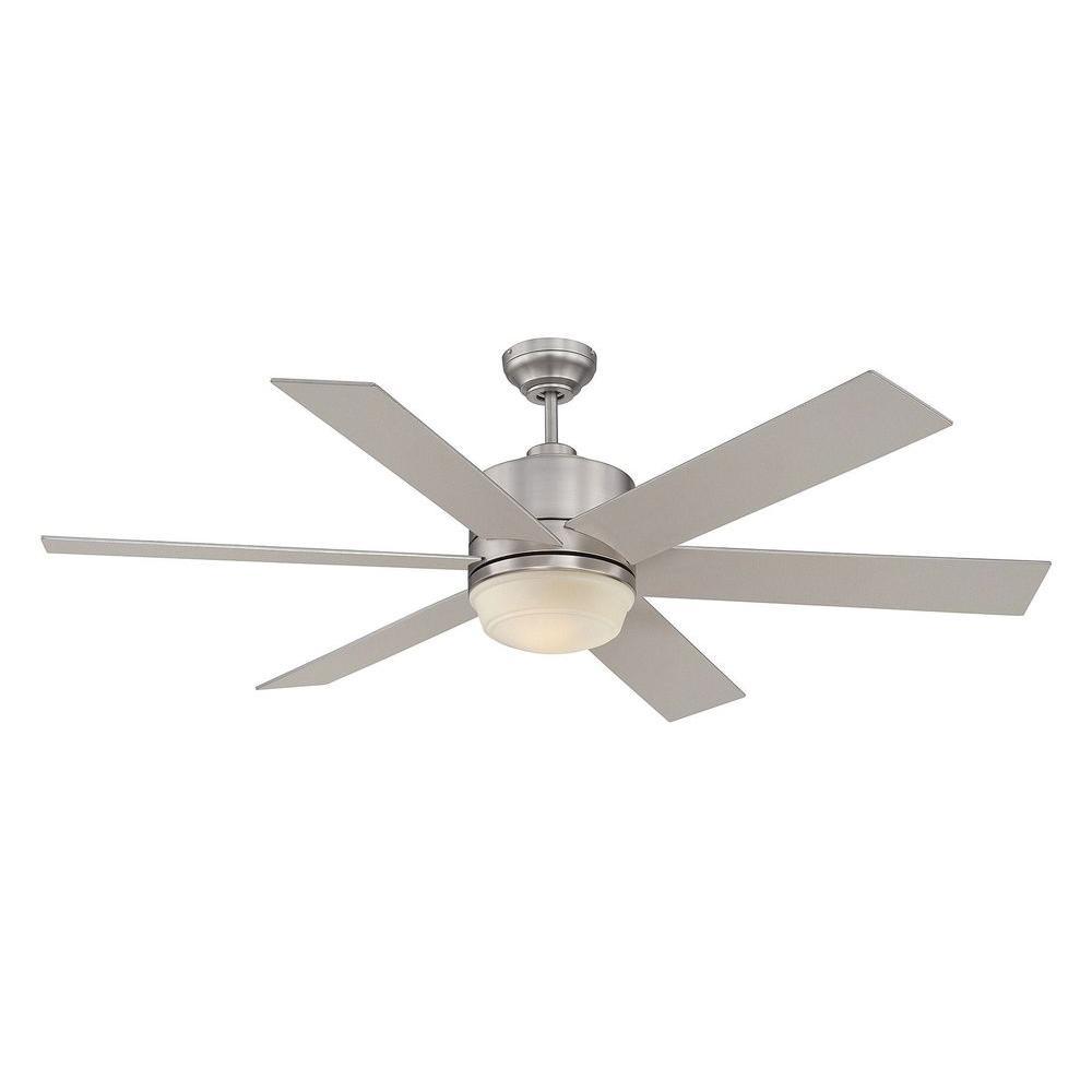 Illumine Coriolis 60 in. Satin Nickel Indoor Ceiling Fan