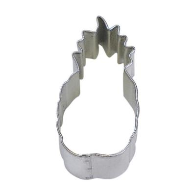 12-Piece 3 in. Pineapple Tinplated Steel Cookie Cutter and Recipe
