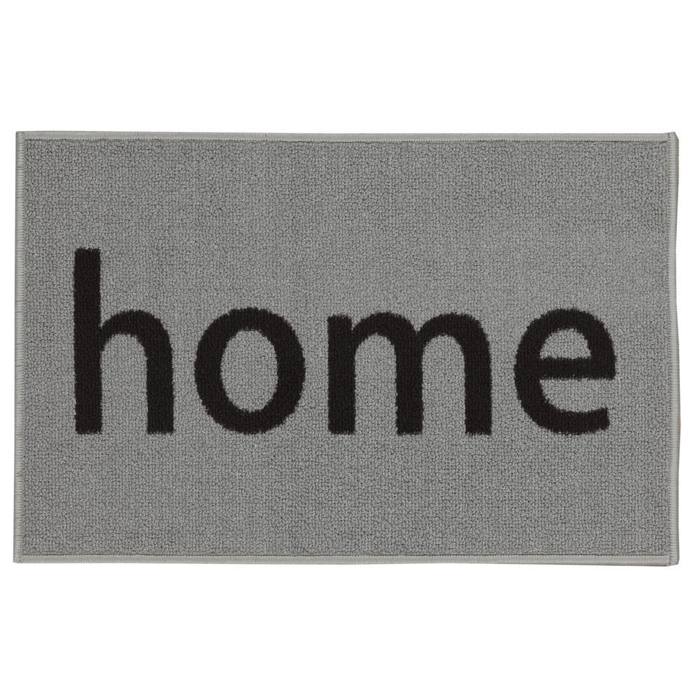 Ottomanson Doormat Collection Rectangular Light Grey Home 20 In X 30 In Door Mat Dor65031 20x30 The Home Depot