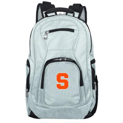 NCAA Syracuse Orange 19 in. Gray Laptop Backpack