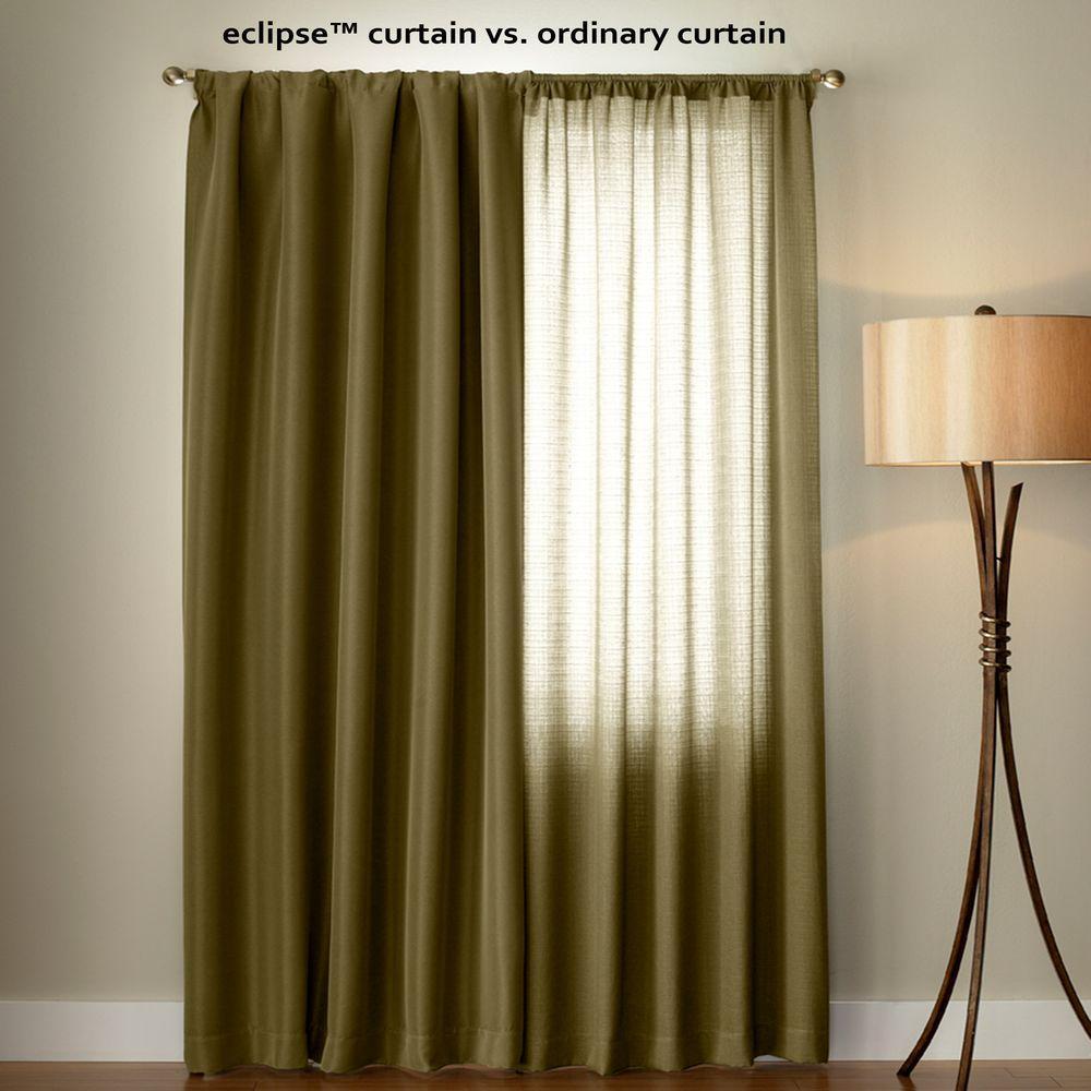 Blackout Canova Blackout Chocolate Curtain Panel  95 in  Length. Absolute Zero Total Blackout Stone Blue Faux Velvet Curtain Panel