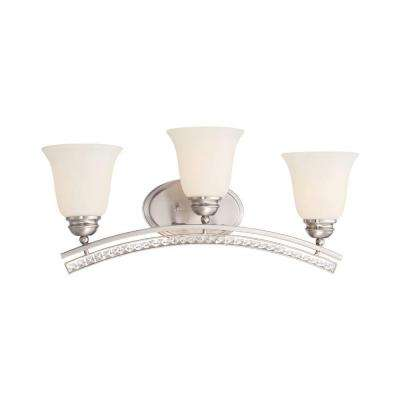 Grand Plazza 3-Light Satin Platinum Bath Bar Light